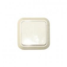 Выключатель Makel открытой установки 1-клавишный белый проходной 45105