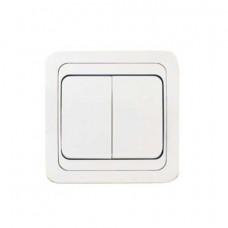 Выключатель Makel Mimoza 2-клавишный белый 12003