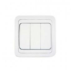 Выключатель Makel Mimoza 3-клавишный белый 12091