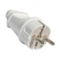 Вилка электрическая с заземлением прямая 16А