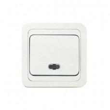 Выключатель Makel Mimoza 1-клавишный белый с подсветкой 12021