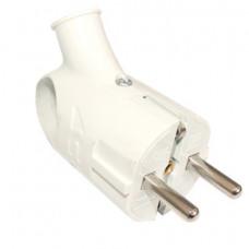 Вилка электрическая с заземлением с ушком 16А