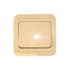 Выключатель Makel Mimoza 1-клавишный крем 25001