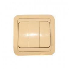 Выключатель Makel Mimoza 3-клавишный крем 25091