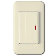 SHIN DONG Выключатель 1-кл с подсветкой бежевый WSN 0324