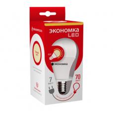 Лампа LED ЭКОНОМКА Eco_LED7wA60E2730 7Вт светодиодная