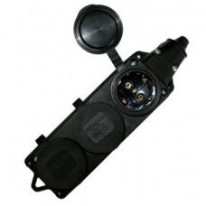 Колодка розеток каучуковая 3-мест с з/к IP44