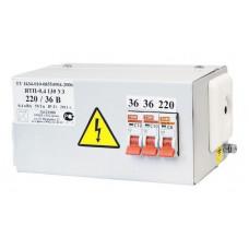 Ящик ЯТП-0,4 220/12 с понижающим трансформатором