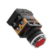 Кнопка ABLFS-22 красная с подсветкой 1з+1р 220В