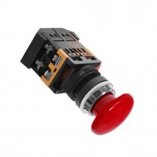 Кнопка AEA-22 Грибок красная 1з+1р 220В