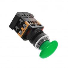 Кнопка AEA-22 Грибок зеленая 1з+1р 220В