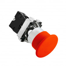 Кнопка LAY5-BS542 Грибок красная с фиксацией 1з+1р